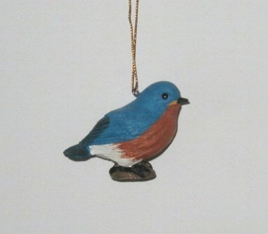 FWC121 - Fisher Wildlife Bird Ornaments Baby Bluebird
