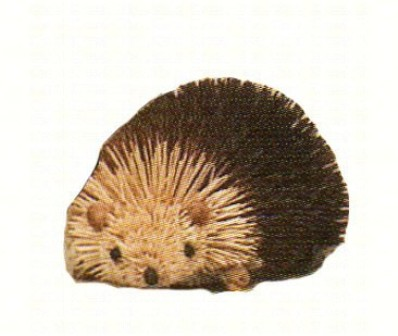 BRUSH11B - BrushArt Animals | Eco-Friendly, Buri Posable, Tabletop Hedgehog Brown 6 Inch