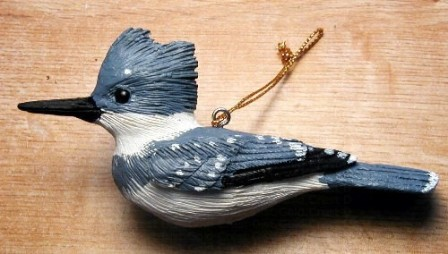 FWC129 - Fisher Wildlife Bird Ornaments Kingfisher