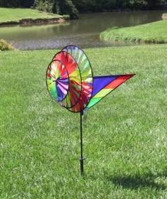 Pd25311   Premier Designs Wind Garden Large Rainbow Triple Spinner
