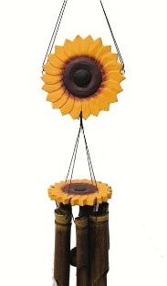 ch149 - Bamboo Wind Chimes by Cohasset Imports Sunflower