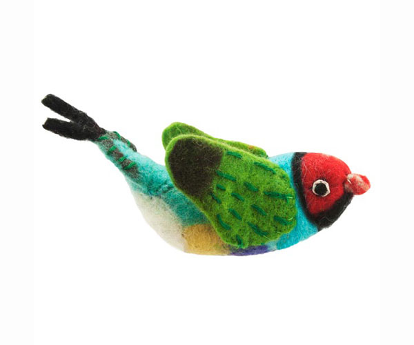 DZI483024 - Rainbow Finch Wild Woolies Ornament