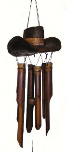 ch154 - Bamboo Wind Chimes by Cohasset Imports Cowboy Hat