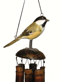 ch175ch - Bamboo Wind Chimes by Cohasset Imports Chickadee
