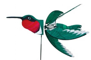 PD25111 - Premier Designs Wind Garden Ruby Throated Hummingbird Spinner