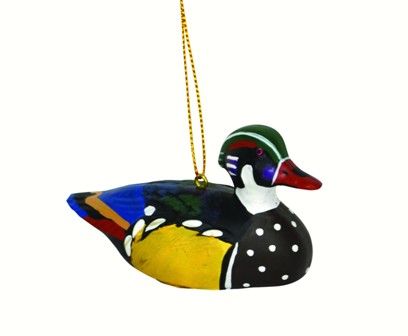 FWC168 - Fisher Wildlife Bird Ornaments Wood Duck