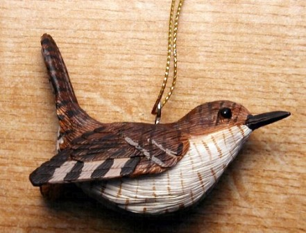 FWC130 - Fisher Wildlife Bird Ornaments Wren