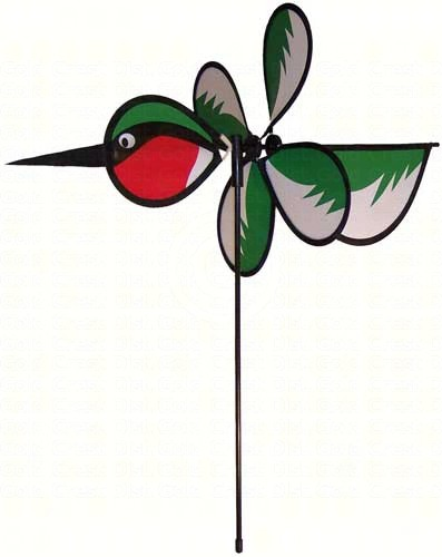 ITB2811 - Flying Bird Wind & Garden Spinners Hummingbird Baby Bird by In The Breeze