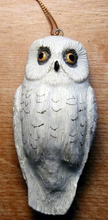 FWC134 - Fisher Wildlife Bird Ornaments Snowy Owl