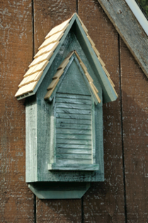 010A - Heartwood Victorian Bat House (Grey)