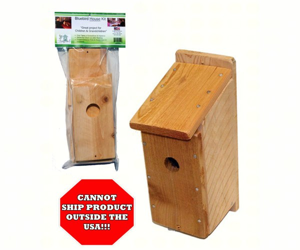 sesc00605 - Cedar Blue Bird House Kit