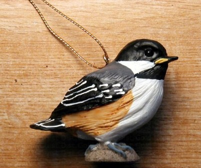FWC112 - Fisher Wildlife Bird Ornaments Baby Chickadee