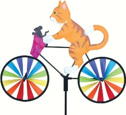 PD26853 - Premier Designs Wind Garden 20 inch Kitty Bicycle Spinner