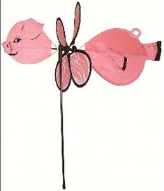 ITB2840 - Flying Bug Wind & Garden Spinners Baby Pig by In The Breeze