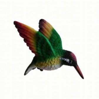 CC52039 - Window Fly Through Bird Magnet Rainbow Hummingbird Ornaments