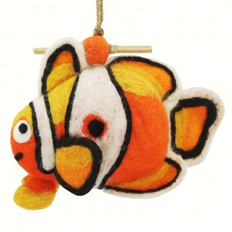 DZI484038 - Clown Fish Wild Woolies Felt Birdhouses