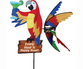 PD25674 - Flying Bird Island Parrot Wind Spinner 33 inch