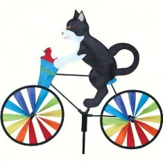 PD26859 - Premier Designs Wind Garden 20 inch Tuxedo Cat Bicycle Spinner