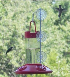 SE6002W - Dr. JB's 16 oz Hummingbird Feeder All Red w/Hanger