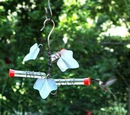 sehhhmbf - Ivy Leaf 3 Test Tube Hummingbird Feeder