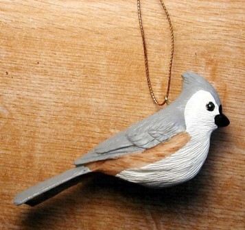FWC104 - Fisher Wildlife Bird Ornaments Tufted Titmouse