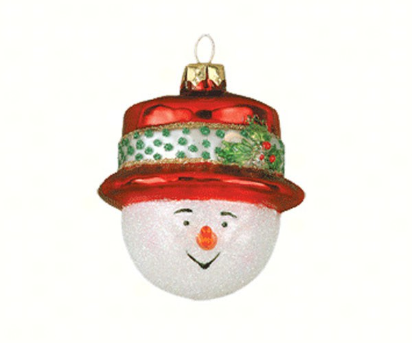 cobane top hat red ornament