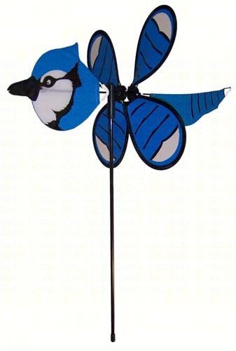 ITB2818 - Flying Bird Wind & Garden Spinners Blue Jay Baby Bird by In The Breeze