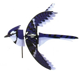 PD25125 - Premier Designs Wind Garden Eastern Blue Jay Spinner