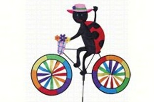 PD25993 - Premier Designs Ladybug Bicycle Wind Spinner