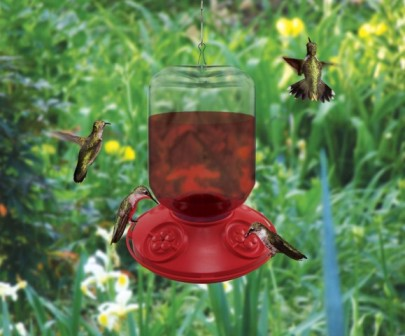 SE6026 - Dr. JB complete Switchable 48 oz Feeder with Red Flowers